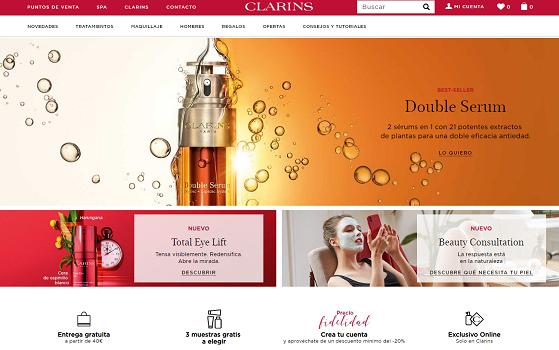 Clarins, oferta precio fidelidad 20% en cosmética, maquillaje y cuidado corporal