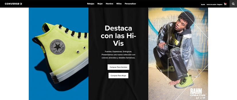 Converse, 20% por newsletter en sus sneakers y moda online