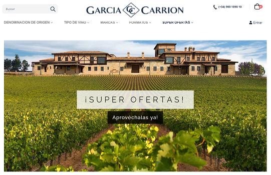 García Carrión, hasta 50% de descuento en sus vinos online