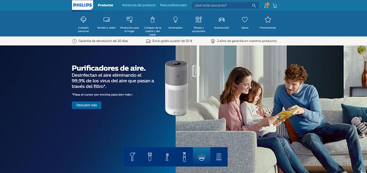 Philips.es, código descuento del 10% en productos PHILIPS de su tienda online