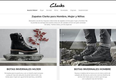 Clarks.eu, calzado con 15% de descuento de bienvenida