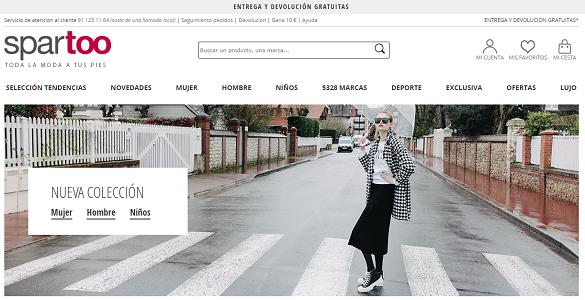 Spartoo.es, códigos descuento de hasta el 15% en calzado, bolsos y complementos
