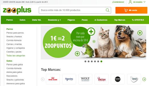 Zooplus.es, cupones descuento del 7% en tienda para mascotas